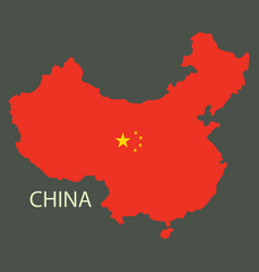 Flag map of republic of china vector