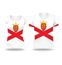 Flag shirt design of Jersey vector