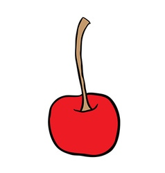 freehand drawn cartoon cherry vector image vector image