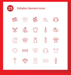 Garment icons vector