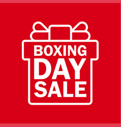 Happy boxing day sale vector