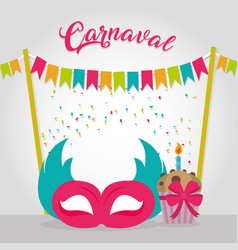 Happy carnaval party card vector