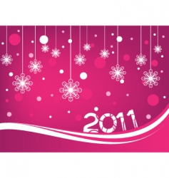 happy new year 2011 vector image