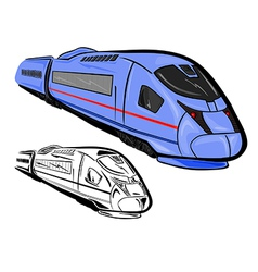 High speed train 1 vector