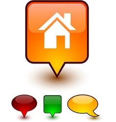 Home speech comic icons vector