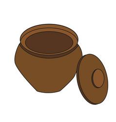 Isolated clay pot vector