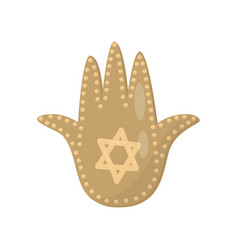 jewish sacred amulet and religious symbol palm of vector image