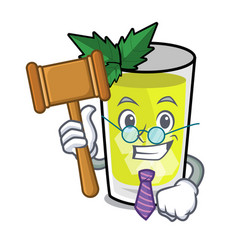 Judge mint julep mascot cartoon vector