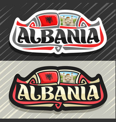 logo for albania vector image