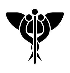 medicine sign icon black vector image