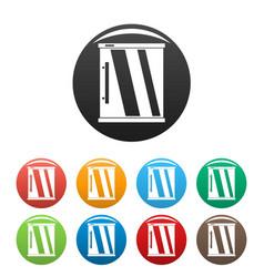 mini refrigerator icons set color vector image