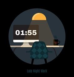 modern office workspace Freelance night vector image