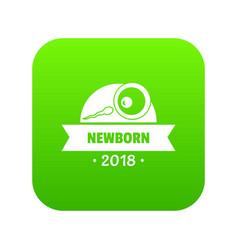 newborn human icon green vector image
