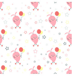 pattern with cartoon mango vector image