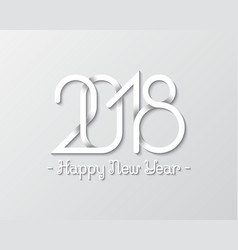 Plexus of numbers 2018 with happy new year text vector