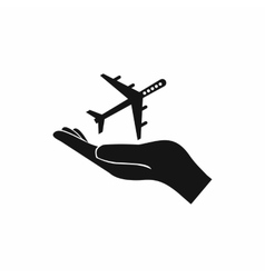 Protection of air travel icon simple style vector image
