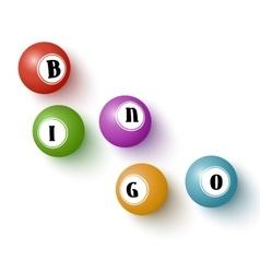 Realistic colorful bingo balls vector image