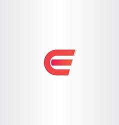 red letter e logotype symbol icon vector image