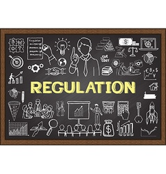 Regulation on chalkboard vector image