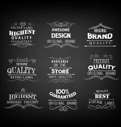 Retro elements for calligraphic designs vector
