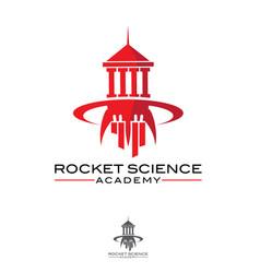 Rocket science academy symbol vector