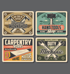 Rrepair and carpentry work tools vector