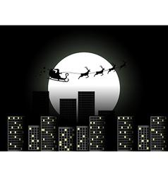 Santa Claus in a sleigh in a reindeer sleigh vector