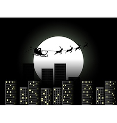 Santa Claus in a sleigh in a reindeer sleigh vector image