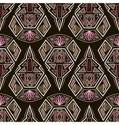 Seamless antique aztec pattern ornament vector image