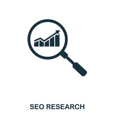 seo research icon line style icon design ui vector image