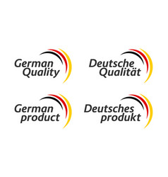 set four german icons german quality vector image