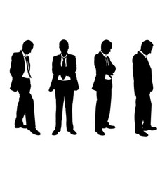 set of business people posing vector image