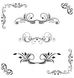 Set of floral frame vector