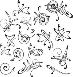 set patterns for design vector image
