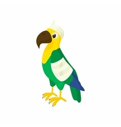Sick parrot icon cartoon style vector