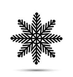 snow icon sign design vector image