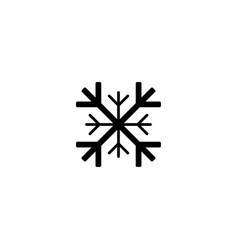 snowflake icon black snowflake icon snowflake vector image