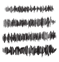 sound waves set audio player audio vector image