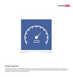 Speedometer icon - blue photo frame vector