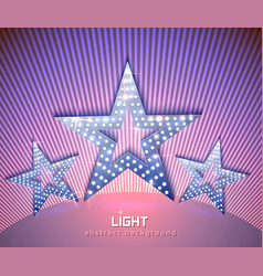 stars retro light banner vector image