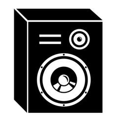studio speakers icon simple black style vector image