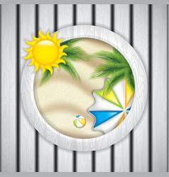 Summer frame vector