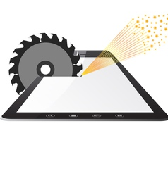 Tablet PC computer vector image