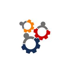 team work gear vector image