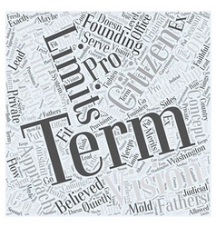 Term Limits Pro and Con Word Cloud Concept vector