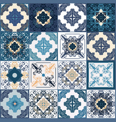 Traditional ornate decorative color tiles vector