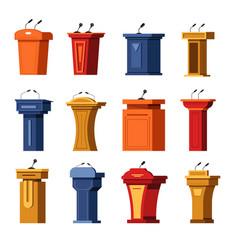 tribune or debate podium stage stand rostrum vector image
