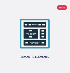 Two color semantic elements icon from technology vector