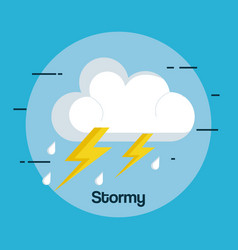Weather storm thunderstorm icon vector