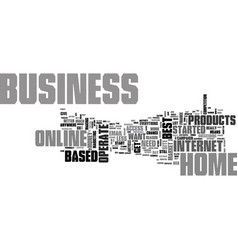 what makes up the best online home based business vector image